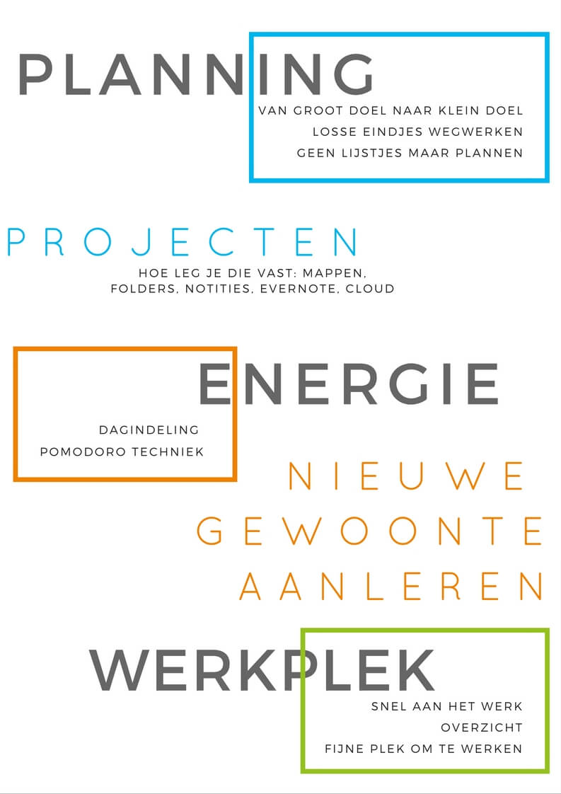 onderwerpen workshop voor drukke ondernemers